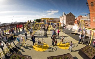 The newly constructed playground at Hart's Mill at Port Adelaide