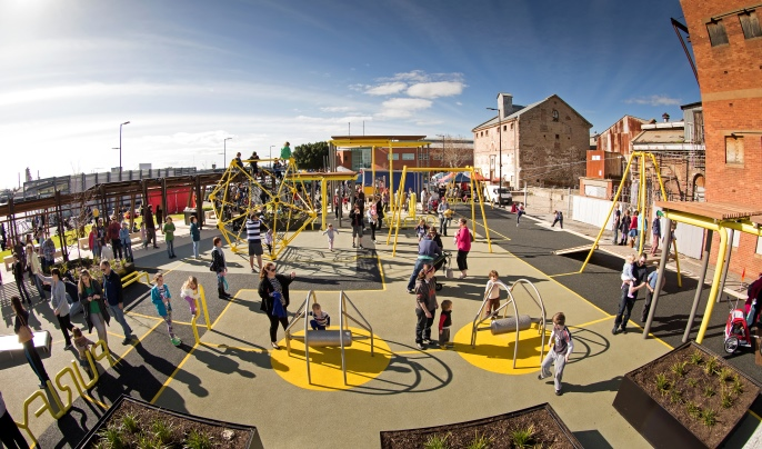 fb8fb9a0fae1b5 The newly constructed playground at Hart s Mill at Port Adelaide