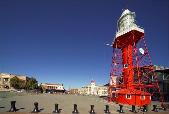 The iconic light house at Port Adelaide
