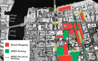 Map of free parking for Christmas at Port Adelaide