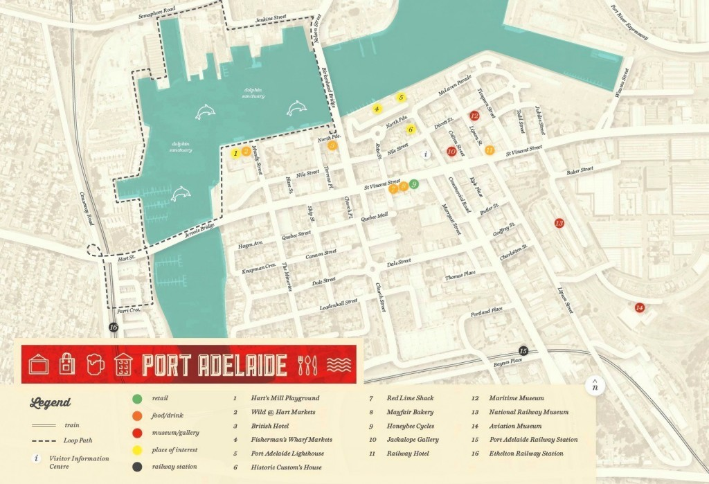 Map Of Port Adelaide